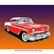 1956 Chevrolet Bel Air Ht Art Print