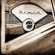 1956 Chevrolet Belair Nomad Dashboard Emblem Art Print