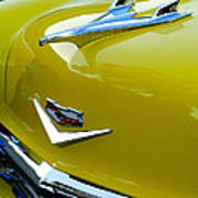 1956 Chevrolet Hood Ornament 3 Art Print