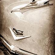1956 Chevrolet Hood Ornament - Emblem Art Print