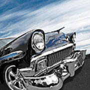 1956 Chevrolet With Blue Skies Art Print