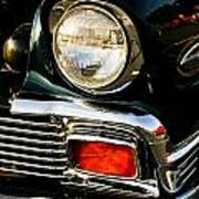 1956 Chevy Bel Air Head Light Art Print