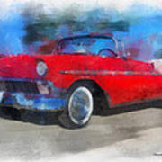 1956 Chevy Car Photo Art 01 Art Print