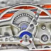 1956 Chevy Corvette Dash Wowc Art Print