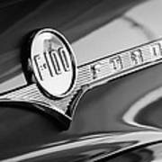 1956 Ford F-100 Pickup Truck Emblem Art Print