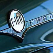 1956 Ford F-100 Truck Emblem Art Print