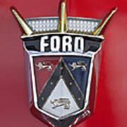 1956 Ford Fairlane Emblem Art Print