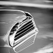 1956 Ford Thunderbird Hood Scoop -287bw Art Print