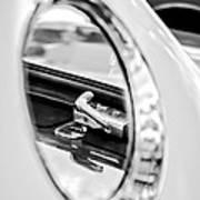 1956 Ford Thunderbird Latch -417bw Art Print