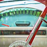 1956 Ford Thunderbird Steering Wheel -260c Art Print