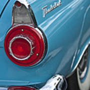 1956 Ford Thunderbird Taillight And Emblem Art Print