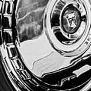 1956 Ford Thunderbird Wheel Emblem -232bw Art Print