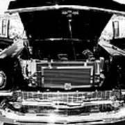 1956 Midnight Black Chevy Art Print