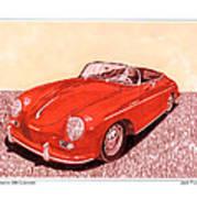 1956 Porsche 356 Cabriolet Art Print