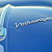 1956 Volkswagen Vw Bug Hood Emblem Art Print