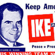 1956 Vote Ike And Dick Art Print by Historic Image