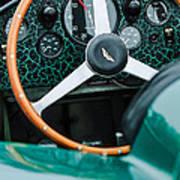 1957 Aston Martin Dbr2 Steering Wheel Art Print
