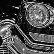 1957 Cadillac Coupe De Ville Headlight Art Print