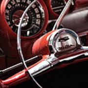 1957 Chevrolet Bel Air Steering Wheel Art Print