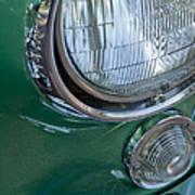 1957 Chevrolet Corvette Head Light Art Print