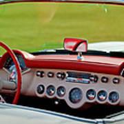 1957 Chevrolet Corvette Roadster Dashboard Art Print