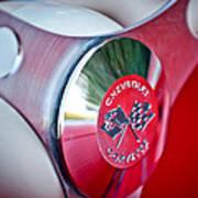 1957 Chevrolet Corvette Steering Wheel -294c Art Print