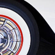 1957 Chevrolet Corvette Wheel Art Print