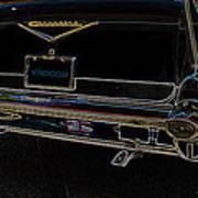 1957 Chevrolet Rear View Art Black_varooom Tag Art Print