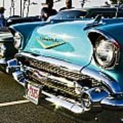 1957 Chevy Bel Air Blue Front End Art Print