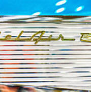 1957 Chevy Bel Air Emblem Art Print