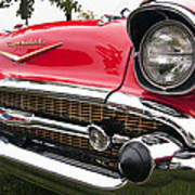 1957 Chevy Bel Air Front End Art Print