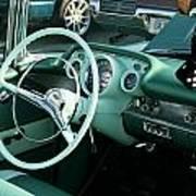 1957 Chevy Bel Air Green Interior Dash Art Print
