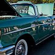 1957 Chevy Bel Air Green Right Side Art Print