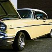1957 Chevy Bel Air Yellow Down The Side Art Print