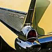 1957 Chevy Bel Air Yellow Fin And Tail Light Art Print