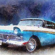 1957 Ford Classic Car Photo Art 02 Art Print