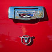 1957 Ford Custom 300 Series Ranchero Emblem Art Print