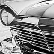 1957 Ford Fairlane Grille -107bw Art Print