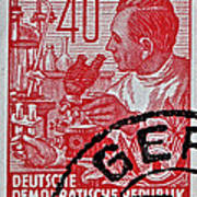 1957 German Democratic Republic Chemist Stamp Art Print