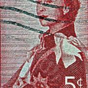 1957 St. Lawrence Seaway Opening Stamp Art Print