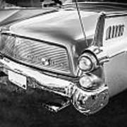 1957 Studebaker Golden Hawk Bw    Art Print
