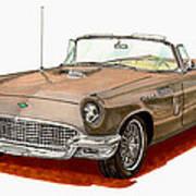 1957 Thunderbird Art Print