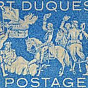 1958 Battle Of Fort Duquesne Stamp Art Print