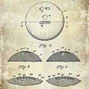 1958 Bowling Patent Drawing Art Print
