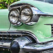 1958 Cadillac Headlights Art Print