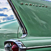 1958 Cadillac It's All In The Fin. Art Print