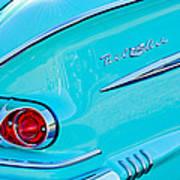 1958 Chevrolet Belair Taillight 2 Art Print