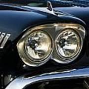 1958 Chevy Impala Headlights Art Print