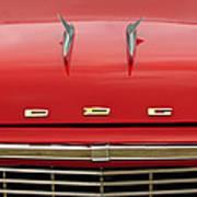 1958 Dodge Coronet Super D-500 Convertible Hood Ornament Art Print by Jill Reger