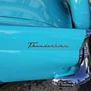 1958 Ford Thunderbird Detail Art Print